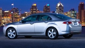 acura, tsx, 2008, silver metallic, side view, style, auto, acura, sky, city, lights, asphalt - wallpapers, picture