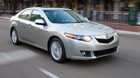 acura, tsx, 2008, silver metallic, side view, style, auto, acura, speed, street, building, asphalt - wallpapers, picture