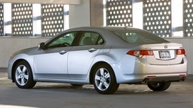 acura, tsx, 2008, silver metallic, side view, style, auto, acura, building - wallpapers, picture