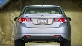 acura, tsx, 2008, silver metallic, rear view, style, auto, acura, parking - wallpapers, picture