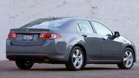 acura, tsx, 2008, metallic gray, side view, style, auto, acura, wall, asphalt - wallpapers, picture
