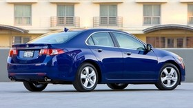 acura, tsx, 2008, blue, side view, style, auto, acura, house, asphalt - wallpapers, picture