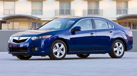 acura, tsx, 2008, blue, side view, style, auto, acura, building, asphalt - wallpapers, picture