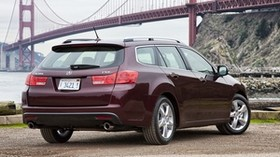 acura, tsx, 2010, burgundy, rear view, style, auto, acura, bridge, nature, grass, asphalt - wallpapers, picture