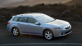 acura, tsx, 2010, metallic blue, top view, style, auto, acura, nature, mountains, the rays of the sun - wallpapers, picture