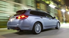 acura, tsx, 2010, blue, side view, style, auto, acura, city, street, lights, speed, asphalt - wallpapers, picture