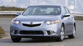 acura, tsx, 2010, blue, front view, style, auto, acura, city, grass, road - wallpapers, picture
