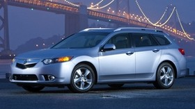 acura, tsx, 2010, silver metallic, side view, style, auto, acura, bridge, lights, asphalt - wallpapers, picture