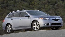 acura, tsx, 2010, metallic gray, side view, style, auto, acura, trees, asphalt - wallpapers, picture