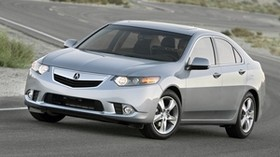 acura, tsx, 2010, gray, side view, style, auto, acura, nature, movement, road - wallpapers, picture