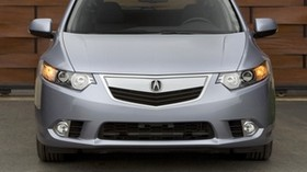 acura, tsx, 2010, gray, front view, style, auto, acura, wall, asphalt - wallpapers, picture