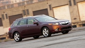 acura, tsx, 2010, cherry, side view, style, auto, acura, speed, building, asphalt - wallpapers, picture