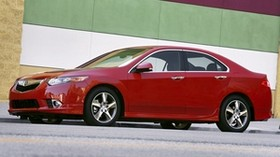 acura, tsx, 2011, red, side view, style, auto, acura, wall, asphalt - wallpapers, picture