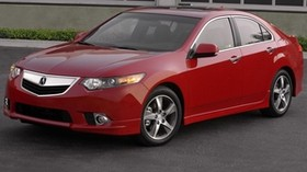 acura, tsx, 2011, red, front view, style, auto, acura, building, grass, asphalt - wallpapers, picture