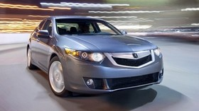 acura, tsx, v6, 2009, metallic gray, front view, style, auto, acura, speed, lights, asphalt - wallpapers, picture