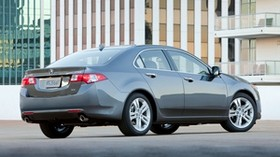 acura, tsx, v6, 2009, gray, side view, style, auto, acura, building, reflection, asphalt - wallpapers, picture