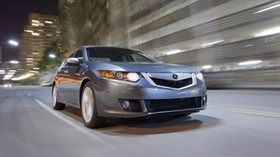 acura, tsx, v6, 2009, gray, front view, style, auto, acura, speed, city, street, lights, asphalt - wallpapers, picture