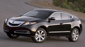 acura, zdx, 2009, black, side view, style, auto, acura, trees, asphalt - wallpapers, picture