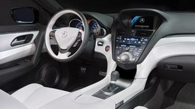 acura, zdx, 2009, concept car, salon, interior, steering wheel, speedometer - wallpapers, picture