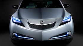acura, zdx, 2009, concept car, metallic gray, front view, style, auto, acura - wallpapers, picture
