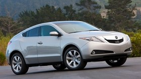 acura, zdx, 2009, silver metallic, side view, style, auto, acura, forest, trees, grass - wallpapers, picture