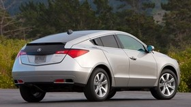 acura, zdx, 2009, silver metallic, side view, style, auto, acura, forest, grass, asphalt - wallpapers, picture