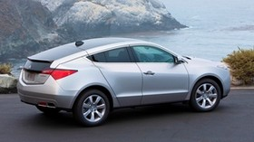 acura, zdx, 2009, silver metallic, side view, style, auto, acura, sea, rocks - wallpapers, picture