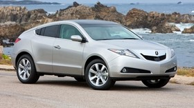 acura, zdx, 2009, silver metallic, side view, style, auto, acura, sky, surf, rocks - wallpapers, picture