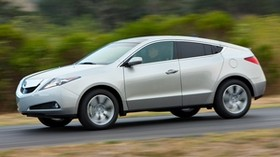 acura, zdx, 2009, silver metallic, side view, style, auto, acura, speed, shrubs, trees - wallpapers, picture