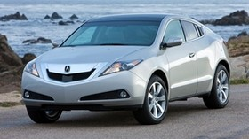 acura, zdx, 2009, silver metallic, front view, style, auto, acura, sea, rocks, asphalt - wallpapers, picture