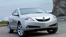 acura, zdx, 2009, silver metallic, front view, style, auto, acura, sea, grass, asphalt - wallpapers, picture
