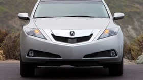 acura, zdx, 2009, silver metallic, front view, style, auto, acura, nature - wallpapers, picture