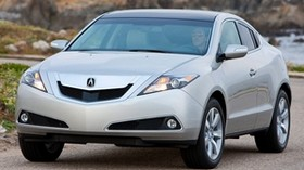 acura, zdx, 2009, silver metallic, front view, style, auto, acura, rocks, sea, nature - wallpapers, picture
