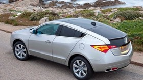 acura, zdx, 2009, silver metallic, top view, style, auto, acura, nature, sea, grass, asphalt - wallpapers, picture