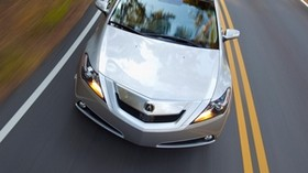 acura, zdx, 2009, silver metallic, top view, style, auto, acura, speed, grass, asphalt - wallpapers, picture