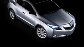 acura, zdx, 2009, metallic gray, concept car, top view, style, auto - wallpapers, picture
