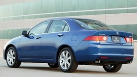 acura, 2003, blue, side view, style, auto, acura, tsx, building, asphalt - wallpapers, picture