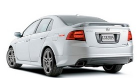 acura, 2004, white, rear view, style, acura, tl, auto - wallpapers, picture