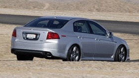 acura, 2004, silver metallic, side view, style, acura, tl, auto, mountains, asphalt - wallpapers, picture