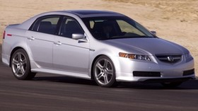 acura, 2004, silver metallic, side view, style, auto, acura, tl, speed, sand - wallpapers, picture