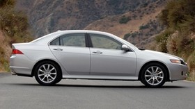 acura, 2006, silver metallic, side view, style, auto, acura, tsx, nature, grass, mountains - wallpapers, picture