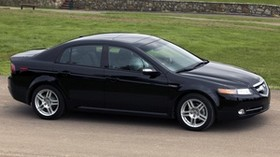 acura, 2007, black, side view, style, auto, acura, tl, nature, trees, grass, asphalt - wallpapers, picture