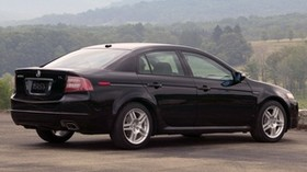 acura, 2007, black, side view, style, auto, acura, tl, nature, forest, grass, asphalt - wallpapers, picture