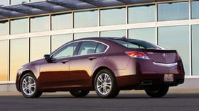 acura, 2008, burgundy, side view, style, acura, tl, auto, building - wallpapers, picture