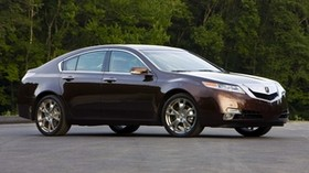 acura, 2008, burgundy, side view, style, auto, acura, tl, trees, asphalt - wallpapers, picture