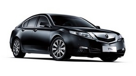 acura, 2008, black, side view, style, acura, tl, auto - wallpapers, picture