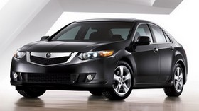 acura, 2008, black, front view, style, acura, tsx, auto - wallpapers, picture