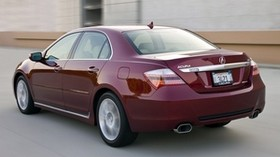 acura, 2008, red, rear view, style, acura, rl, auto, speed, asphalt - wallpapers, picture