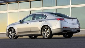acura, 2008, silver metallic, side view, style, acura, tl, auto, building - wallpapers, picture