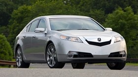 acura, 2008, silver metallic, front view, style, auto, trees, asphalt - wallpapers, picture